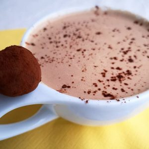 """DROP"" – 65% Dark Hot Chocolate w/ roasted chestnut & cinnamon"
