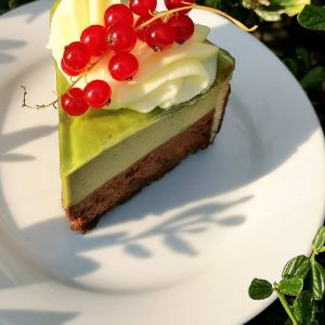 Genmaicha Chocolate Mousse Cake